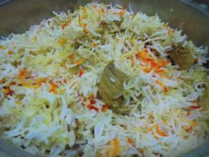 Fish Biryani! Made by someone of my stature :)